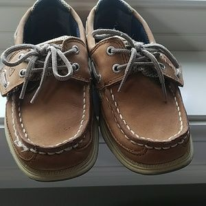 Toddler Boy Sperry Lanyard boat shoes size 11
